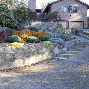 Recycled Concrete Retaining Walls